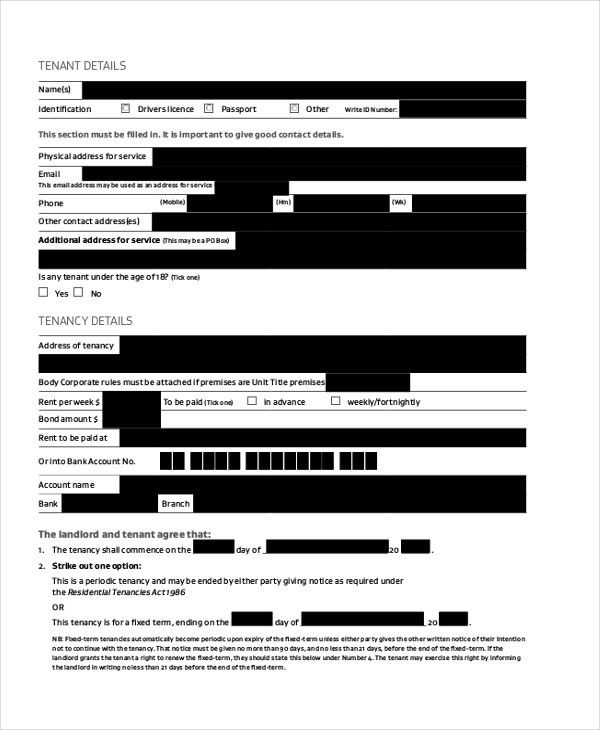 Sample Landlord Agreement Form - 8+ Free Documents in PDF, Doc