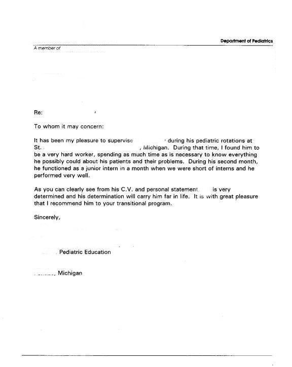 Immigration Letter Of Recommendation Sample | Template Design
