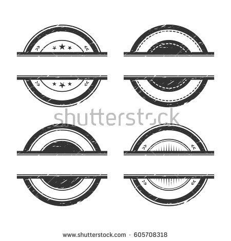 Classic Vintage Badges Set Isolated On Stock Vector 583540075 ...