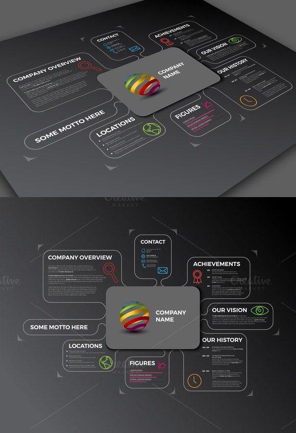 Dark Company Profile Template | Presentation Templates | Pinterest ...