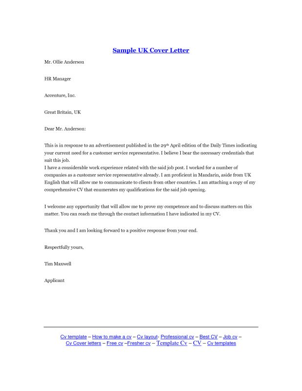 Download Writing A Covering Letter Uk | haadyaooverbayresort.com