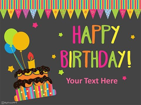 Free Birthday Celebration PowerPoint Template - Download Free PPT