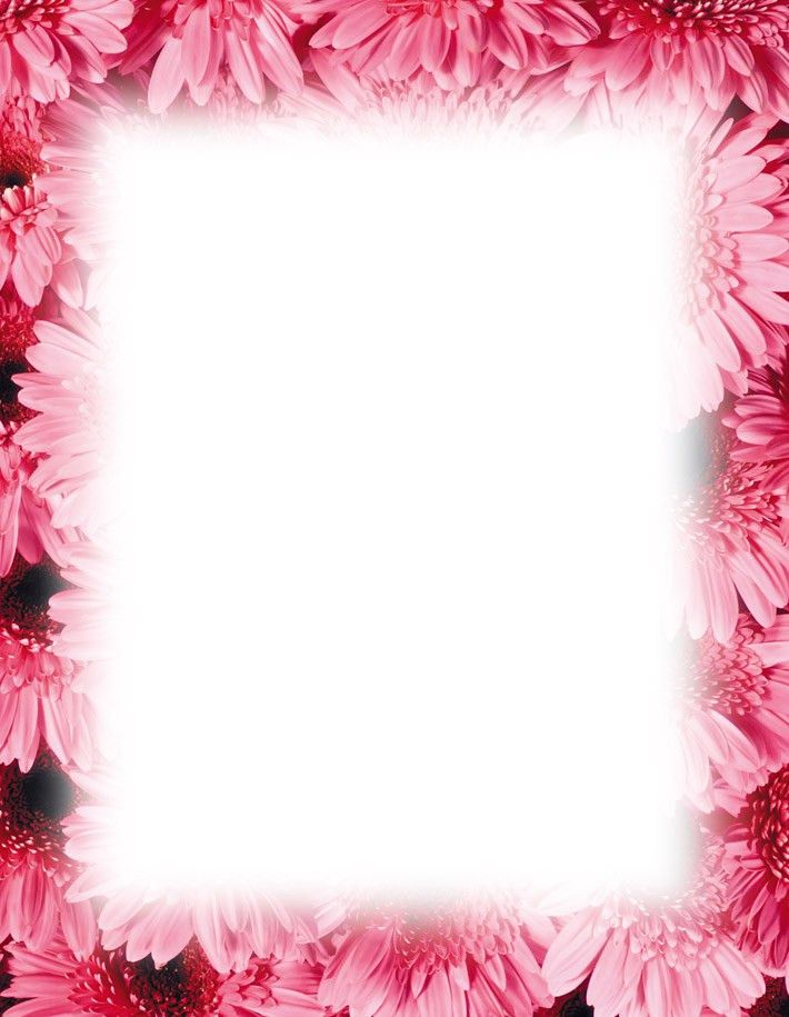Magnolia Border Free Powerpoint Backgrounds Template | Books Worth ...