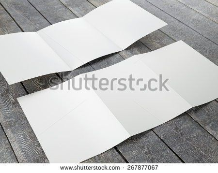 Blank Template Trifold Brochure A4a5 Size Stock Illustration ...
