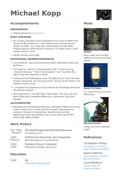 Publisher Resume samples - VisualCV resume samples database