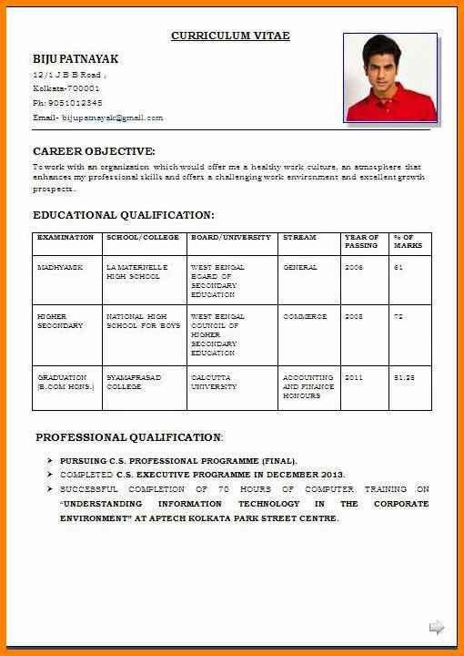 resume format application format for students en resume