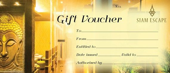 Massage Gift Voucher | Siam Escape, Chatswood