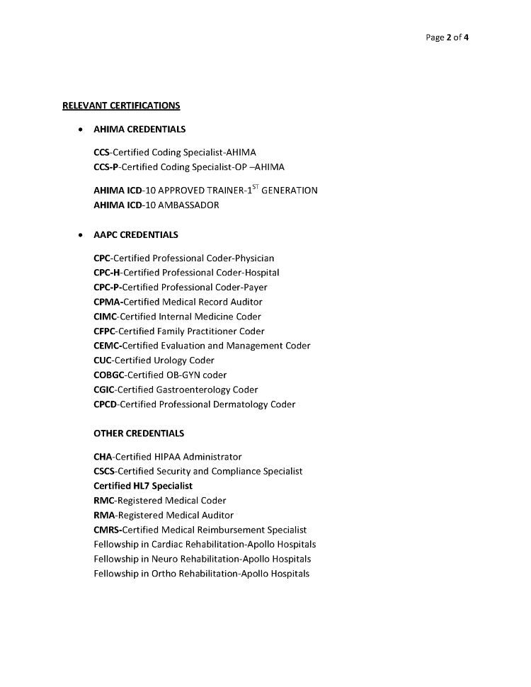 certified medical coder resume - Josemulinohouse