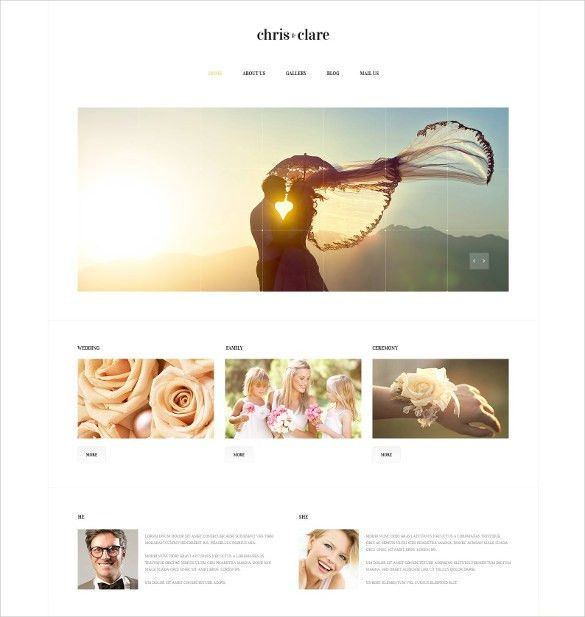 31+ Wedding Website Themes & Templates | Free & Premium Templates
