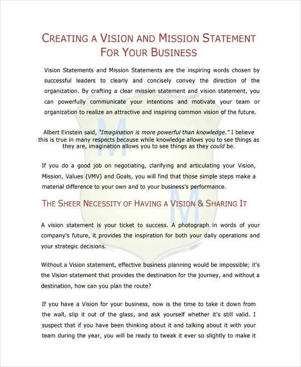 9+ Business Statement Examples, Samples