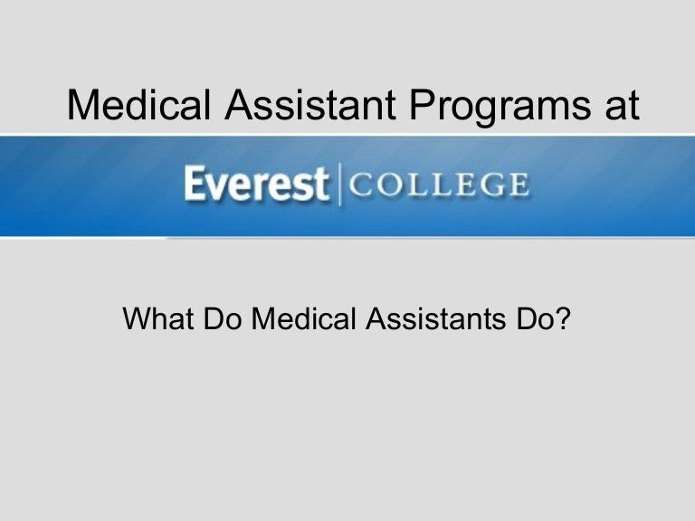 What Do Medical Assistants Do?