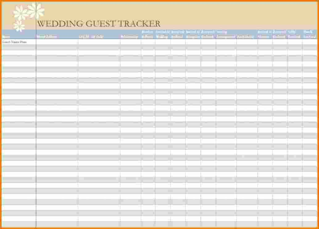 4+ wedding guest list excel | Expense Report