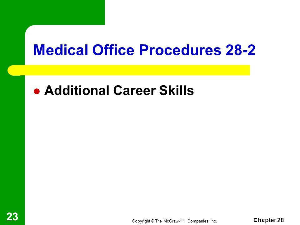 Chapter 28 Medical Office - ppt video online download