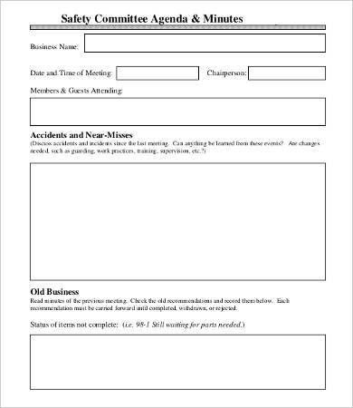 Committee Minutes Template - 9+ Free Word, PDF Documents Download ...
