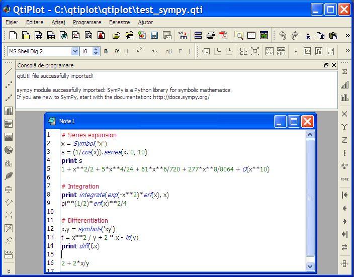 QtiPlot - Python scripting