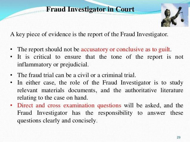 Managing the fraud if fraud investigation from investigation room to …