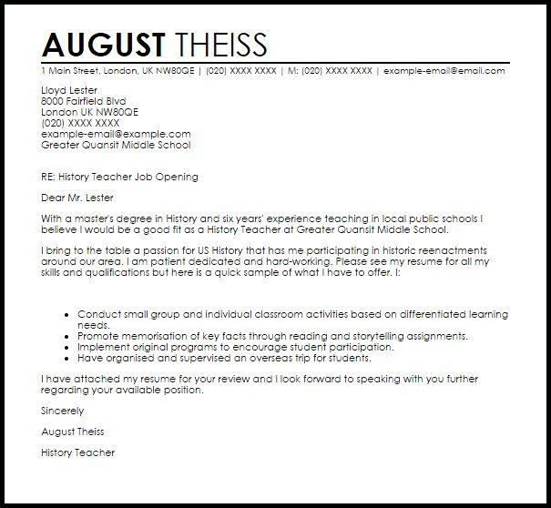 teaching cover letter examples teacher cover letter example