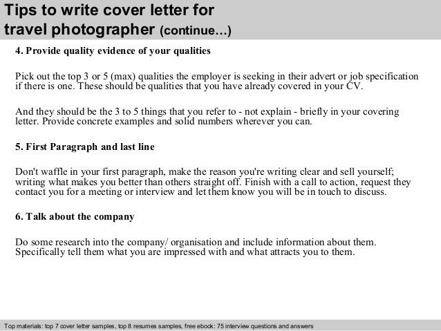 travel photographer cover letter - Cover Letter For Photography