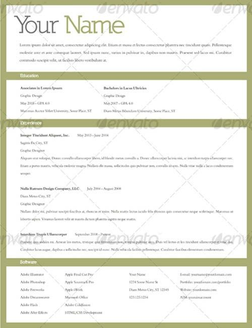Outstanding Resume Templates 18625 | Plgsa.org