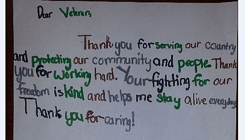 3rd Grade Class Honors WWII Veterans By Writing Letters