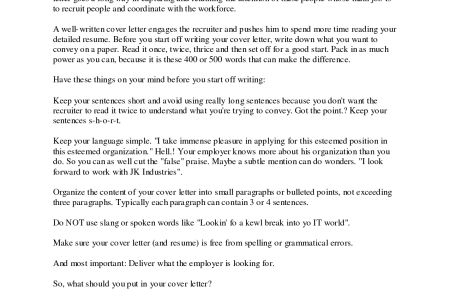 Start Of A Cover Letter How To Start A Cover Letter For A Job