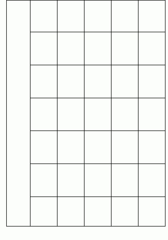 Blank Calendar Template Index