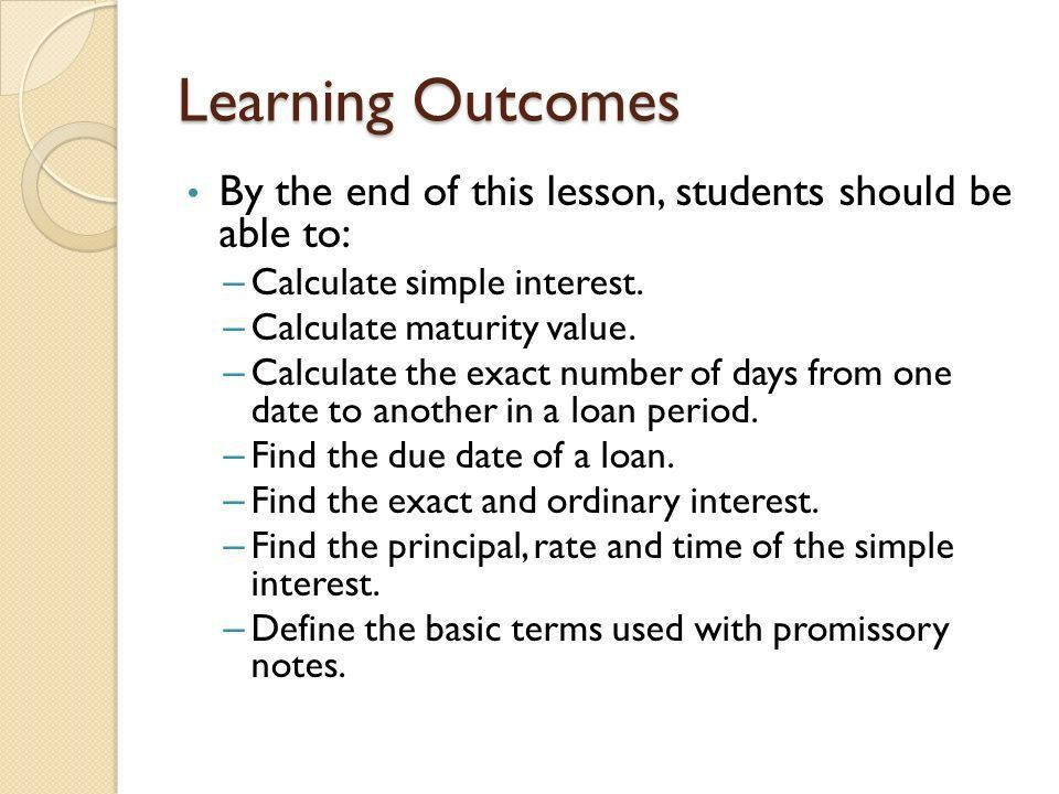 BASICS OF SIMPLE INTEREST - ppt download