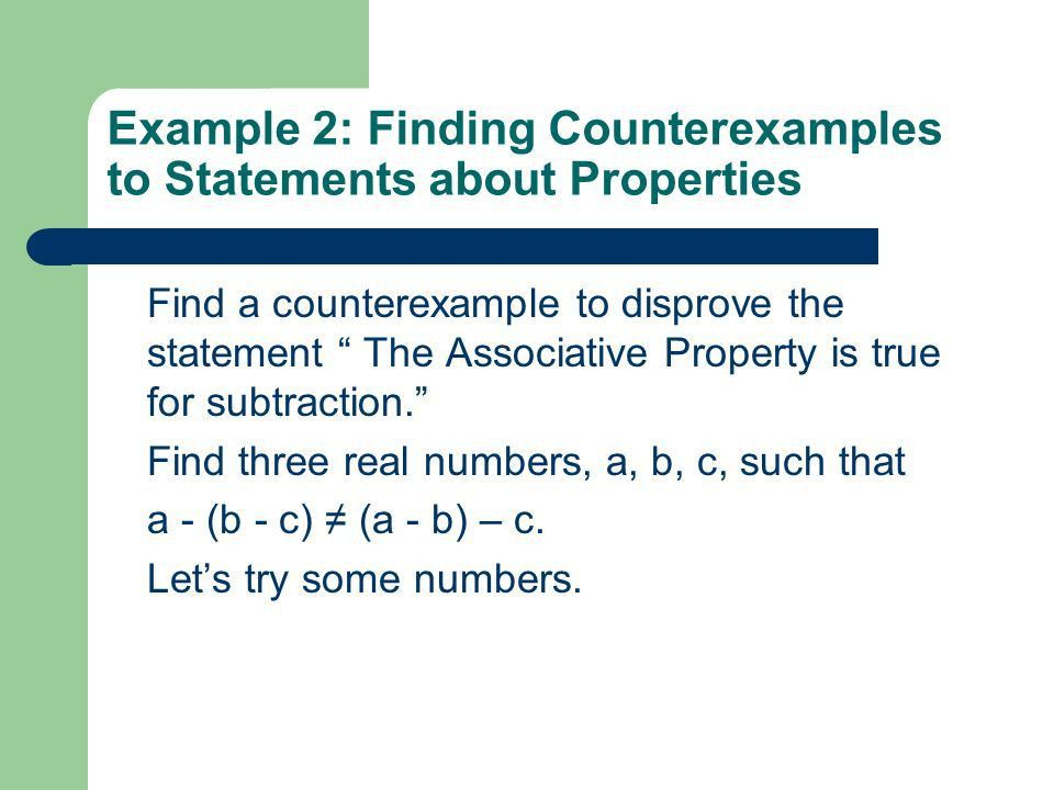 Algebra 1 Chapter 1 Section Properties of Real Numbers The ...