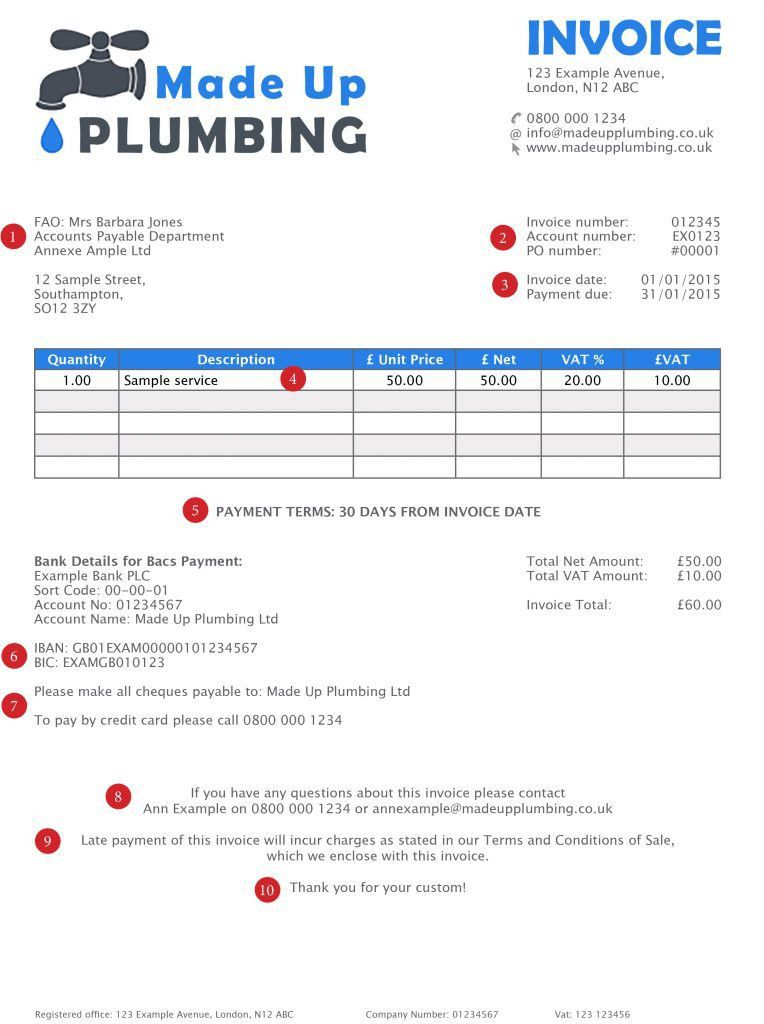 Download Invoice Template Uk Bank Details | rabitah.net
