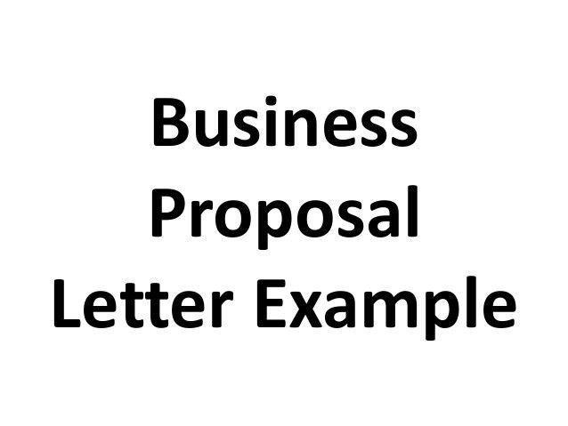 business proposal letter example