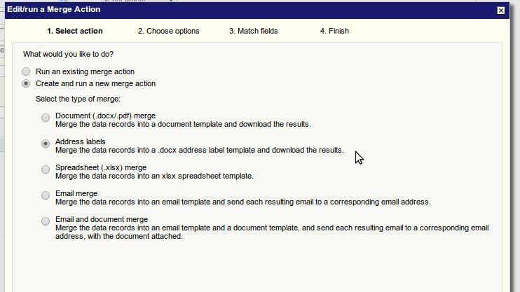 Generating Address Labels - Apsona