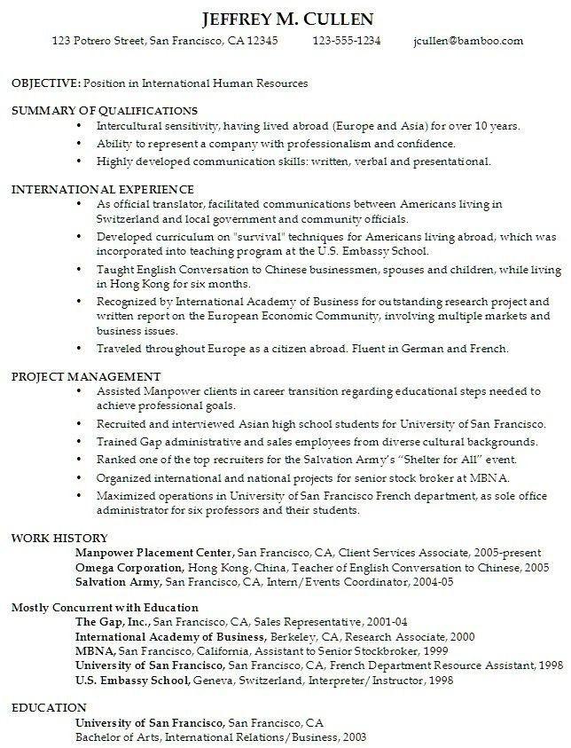 Sample Intern Resume Business. Resume Samples Uva Career Center .