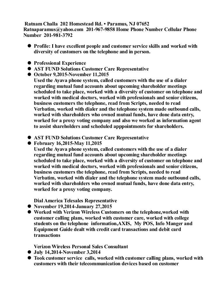 customer care resume 82415 resume