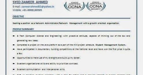 Download Ccna Resume | haadyaooverbayresort.com
