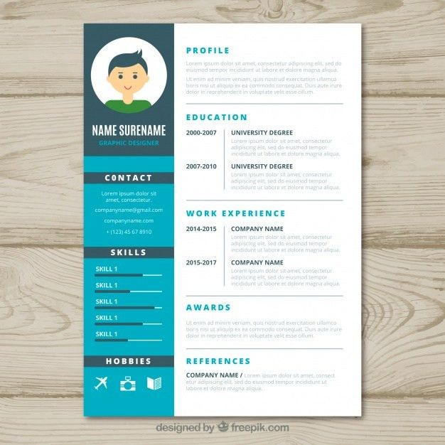 Graphic designer cv template Vector | Free Download