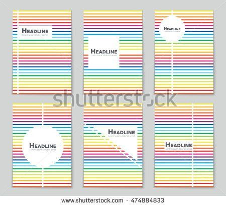 Abstract Vector Layout Background Set Art Stock Vector 474886180 ...