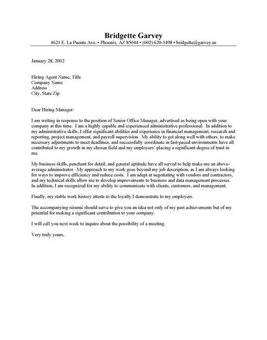 Clerical Cover Letter | Template Design