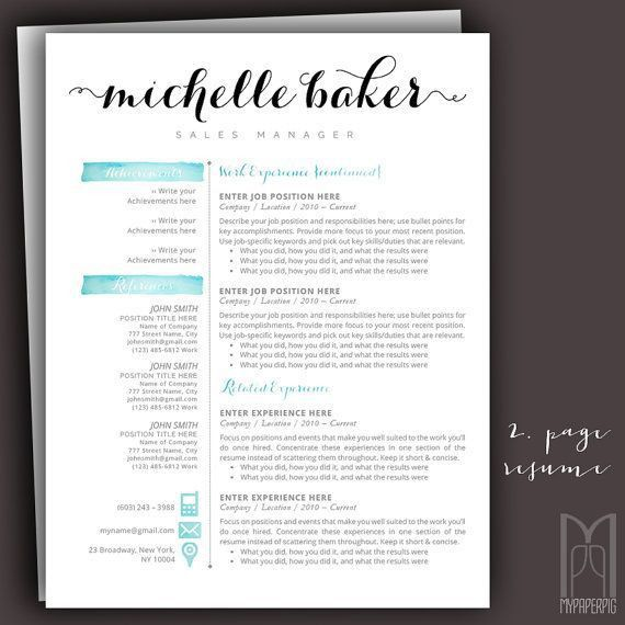 15 best Modern & Creative RESUME TEMPLATES -- (CUSTOM NAME HEADER ...