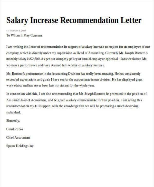 Recommendation Request Letter. Employee Thank You Letter Sample ...