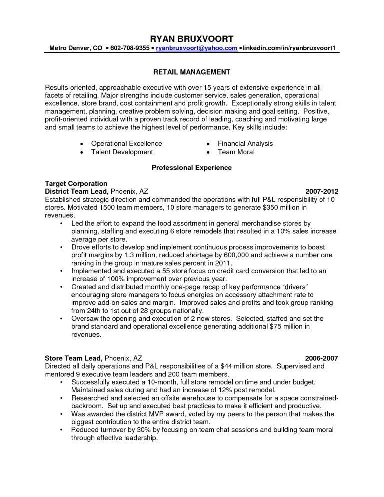 Plush Design District Manager Resume 13 Retail District Manager ...