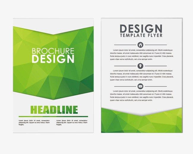 Classic single-page brochure design|72370|pngtree