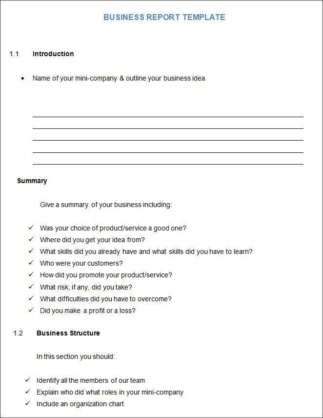 Writing business reports template | Mba essay help | EducationUSA ...