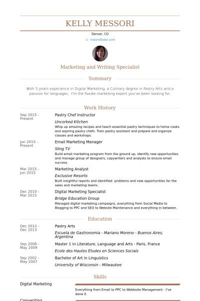 resume killer resume for chefs chef resume objective examples ...