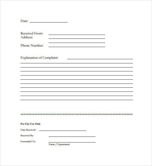 Sample Customer Complaint Form Examples - 7+ Free Documents In PDF ...