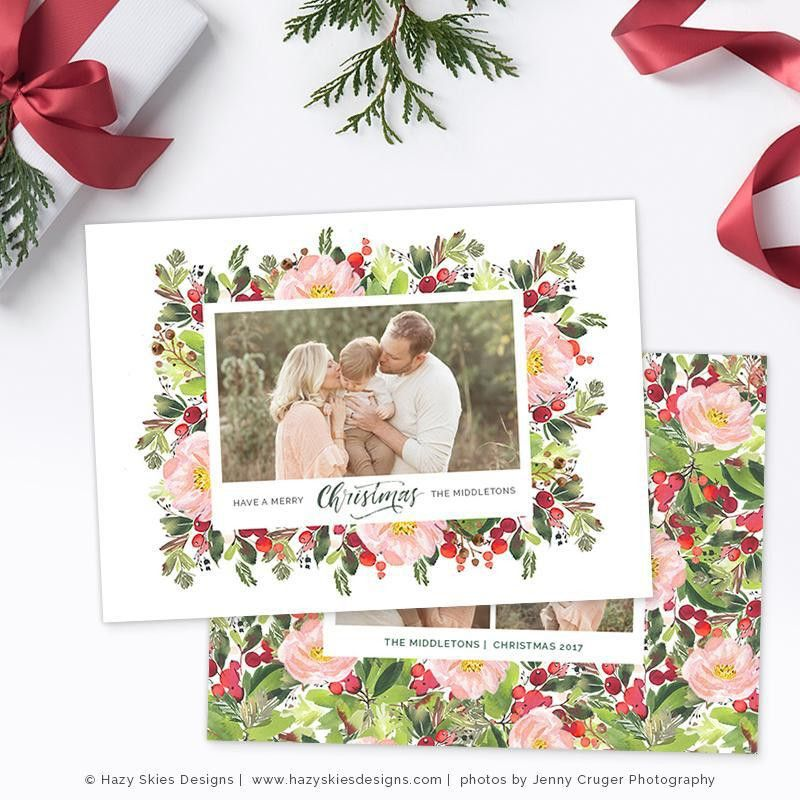 Christmas Photo Cards Christmas Card Template Christmas Card ...