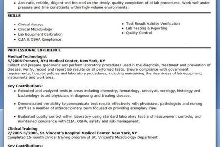 philippines preview cv sample resume medical technologist ...