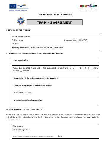 Training Agreement. Sample Project Vendor Contract Agreement ...