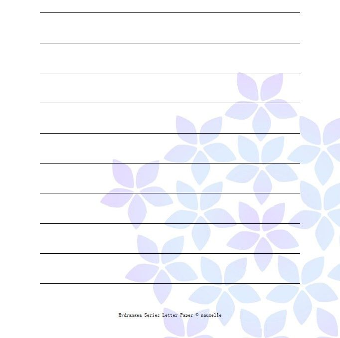 Nauxelle | Hydrangea Printable Letter Paper (3 PDF Template ...