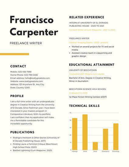 Cream Simple Scholarship Resume - Templates by Canva