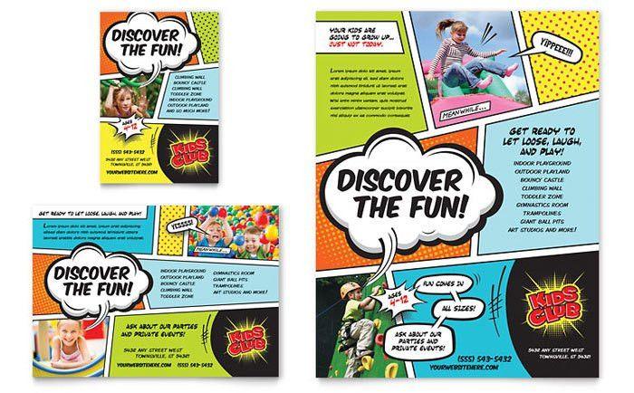 Kids Club Flyer & Ad Template Design